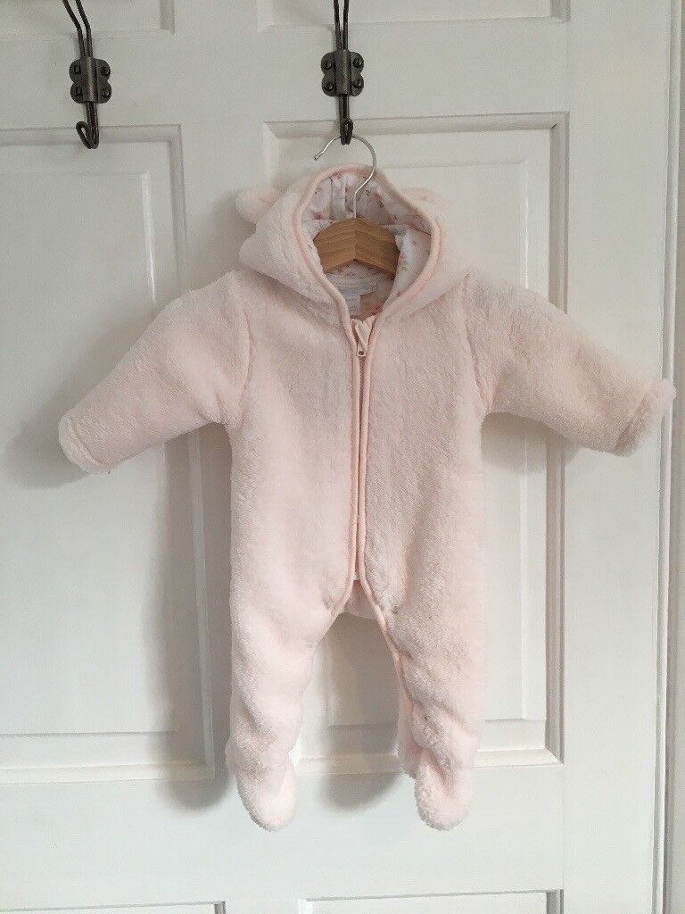 Little White Company newborn baby snowsuit brand new with tags.