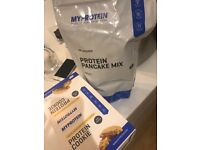 My protein pancake mix + protein cookies