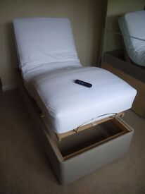Small Single Adjustable Bed with Remote Control