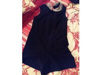 Ladies size 12 playsuit black worb once gcd like new