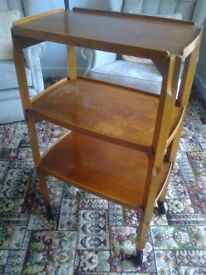 PERIOD STACK OF THREE OCCASIONAL TABLES - MULTI FUNCTIONAL - VERY SOUND - Asking £35.00 ovno