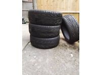 Set of 4 Car Tyres as new