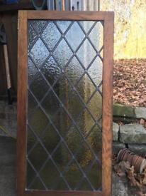 Green stain glass window