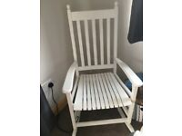 White Wooden rocking chair