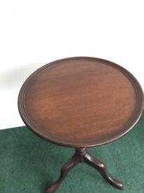 Vintage Mahogany Wine Table.