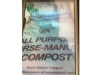 Organic horse manure multipurpose compost