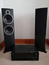 Onkyo AV receiver and Wharfedale speakers