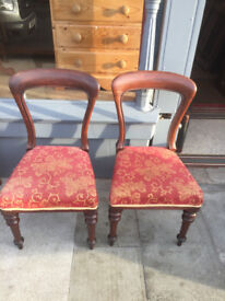 Pair of Balloon Backed Chairs , in good condition . Free Local Delivery.