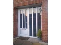 *FOR SALE* White PVC Door & Sidelight