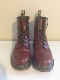 Cherry red dr martens sz5 **will post if required**