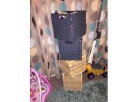 Ikea kallax wicker cube baskets