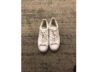 White Mens Adidas Superstar Trainers Size 10