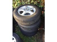 VW alloys and tyres good condition