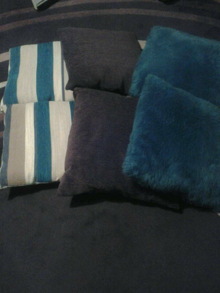 6 Cushions, 40cm x 40cm. £8 for all 6.