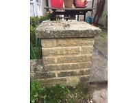 pitched buff walling bricks FREE
