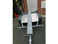 Motorbike tipping trailer