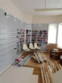 Various items , phone cases,slat walls for retail shops cupboard handles