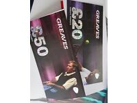 Greaves sports £70 gift voucher