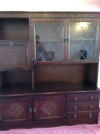 3 piece matching mahogany display, tv and corner unit