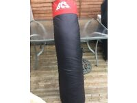 BSC Black Punch Bag with red band.