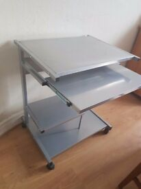 NEAR NEW MOBILE COMPUTER DESK ONLY £15!!!