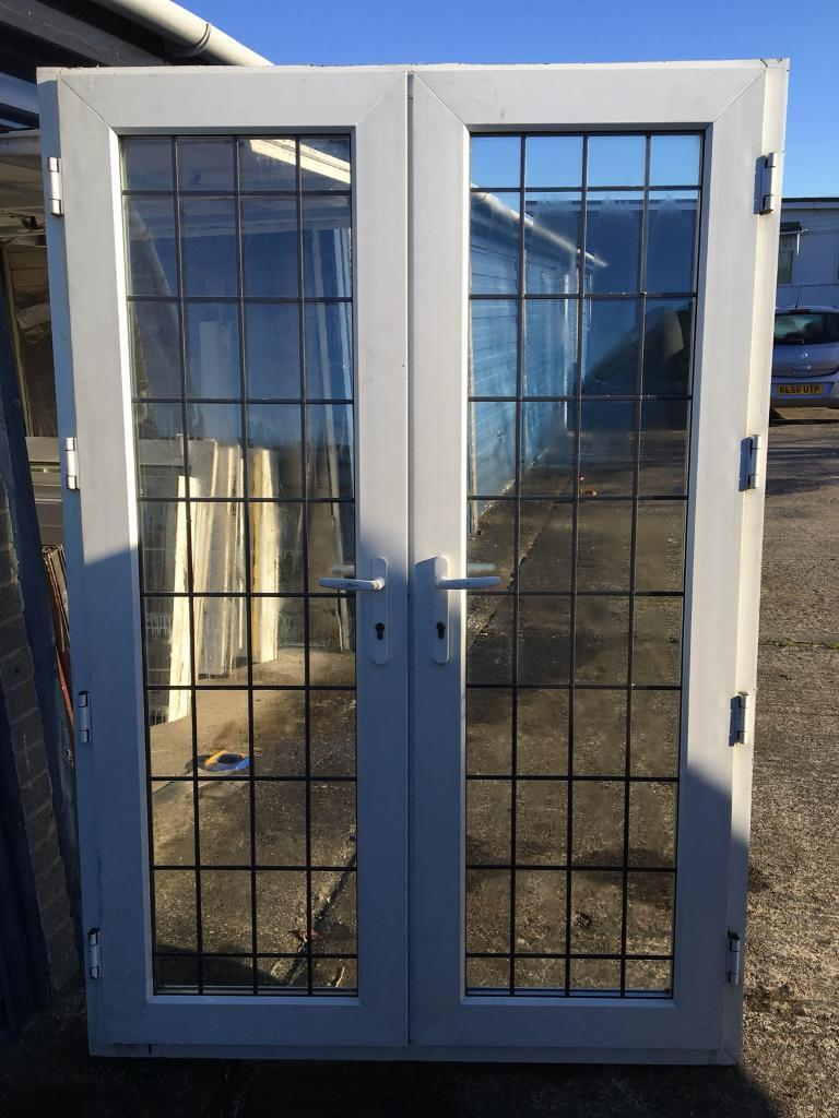 Upvc Leaded French Doors Good Condition In Thornaby County Durham