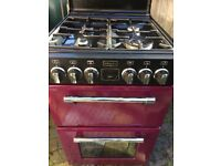 Stoves Richmond Dual fuel Cooker model 550dfw Wild Berry