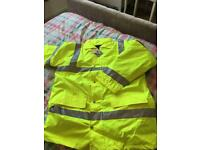 New hi vis coat size large
