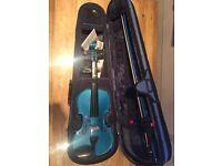 Full Size Stentor Harlequin Blue Violin