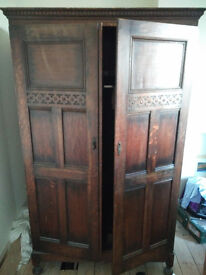 Solid Woodern Double Wardrobe