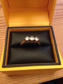 For Sale - 18 carat gold diamond engagement ring