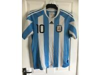 Lionel Messi #10 Argentina 2010 World Cup Jersey - M