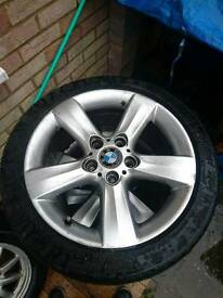"""17"""" BMW 5x120 alloy wheels and tyres"""