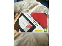 3ds xl boxed red and black