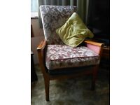 Two older style armchairs