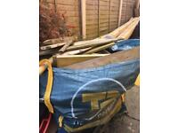 Bulk bag of timber offcuts for log burner or chimenia