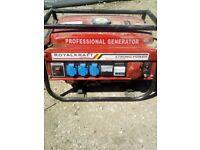 Powerkraft petrol Generator 220v/380v
