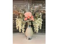 Flower Pearl Vase (artificial flowers included)