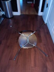 Arne Jacobsen, glazed designer Dining chairs Walnut with Chrome legs