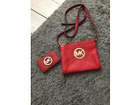 Michael Kors shoulder bag red with coin purse