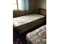 Two Single Divan Beds Complete with Mattresses *FREE*. Collection only
