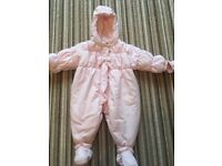 Boutique pink snow suit 9mths
