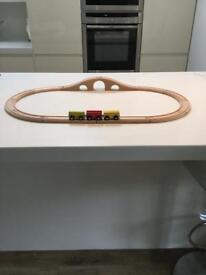 Ikea wooden train track and train