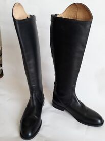 Knee High Leather Riding Boots, womens size 8