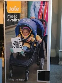 Brand new in box double buggy made by joie