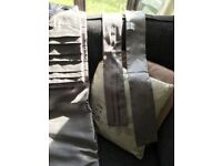 Grey Faux Silk Curtains