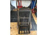 Vintage gas bottle trolley