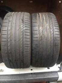 2x 285 40 21 Continental contact 5 FREE MOBILE FITTING GLASGOW