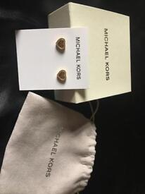 Gold plated Micheal Kors earrings