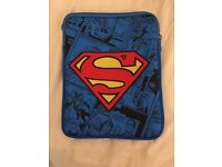 Superman tablet zipper case
